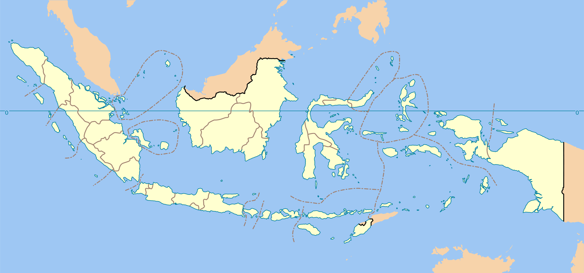 Indonesia Provinces Blank Map