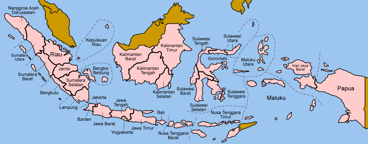 Indonesia Provinces Indonesian