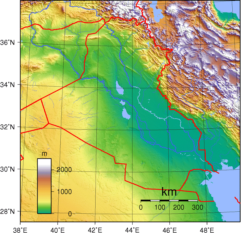Iraq Topography