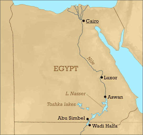 Lake Nasser Location