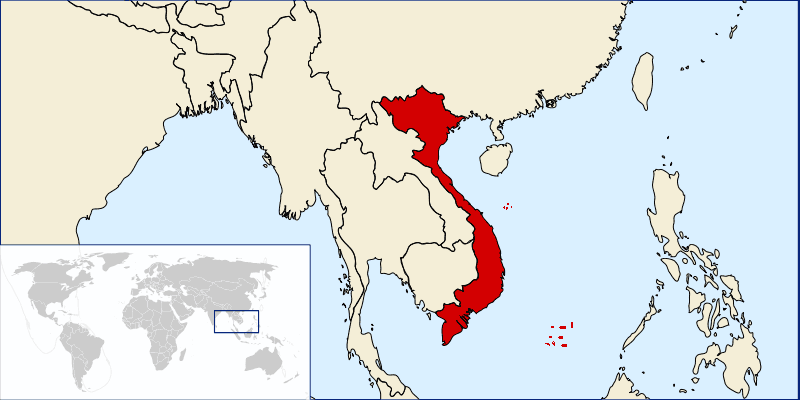 Locationofvietnam