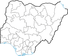 Locator Map Blank Nigeria