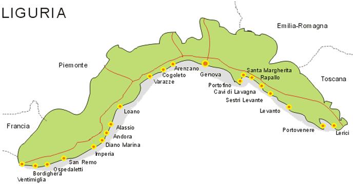 Map Liguria
