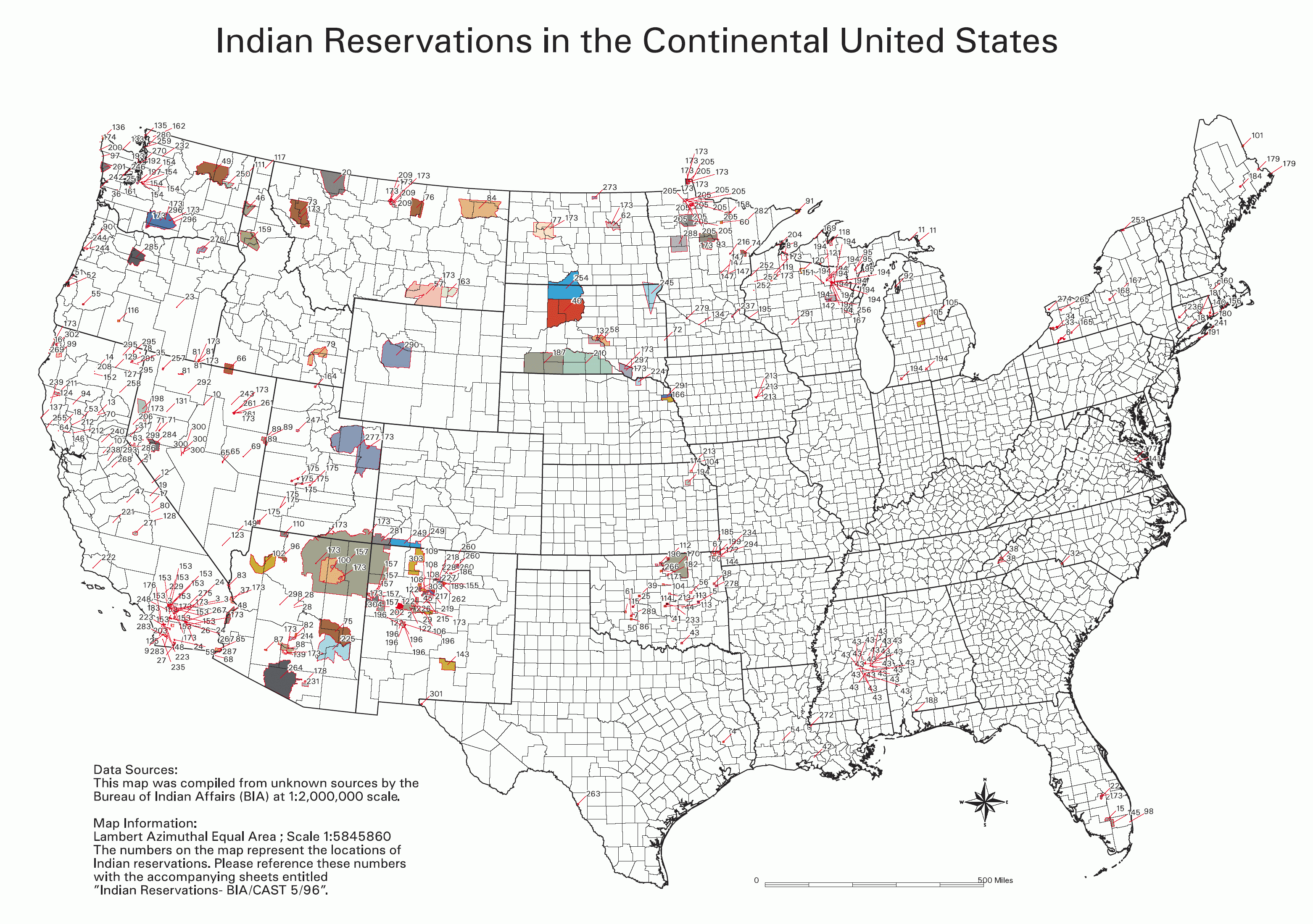 Map Indian Reservations Usa