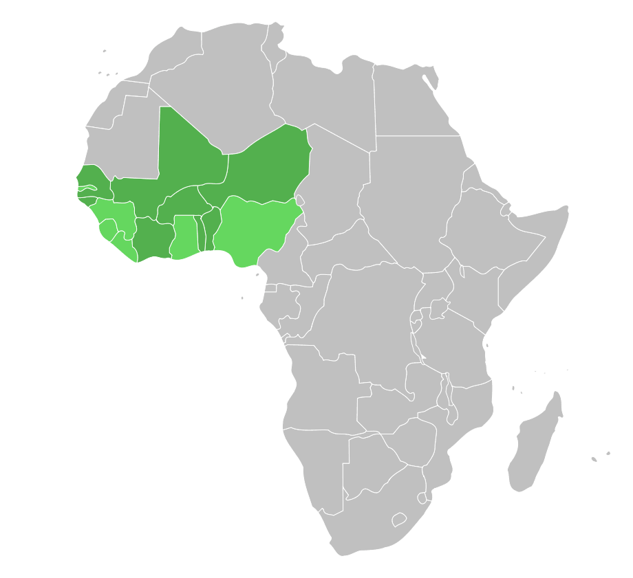 Map of Ecowas