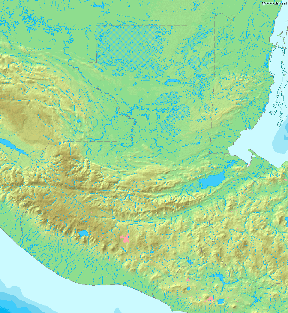 Map of Guatemala Demis
