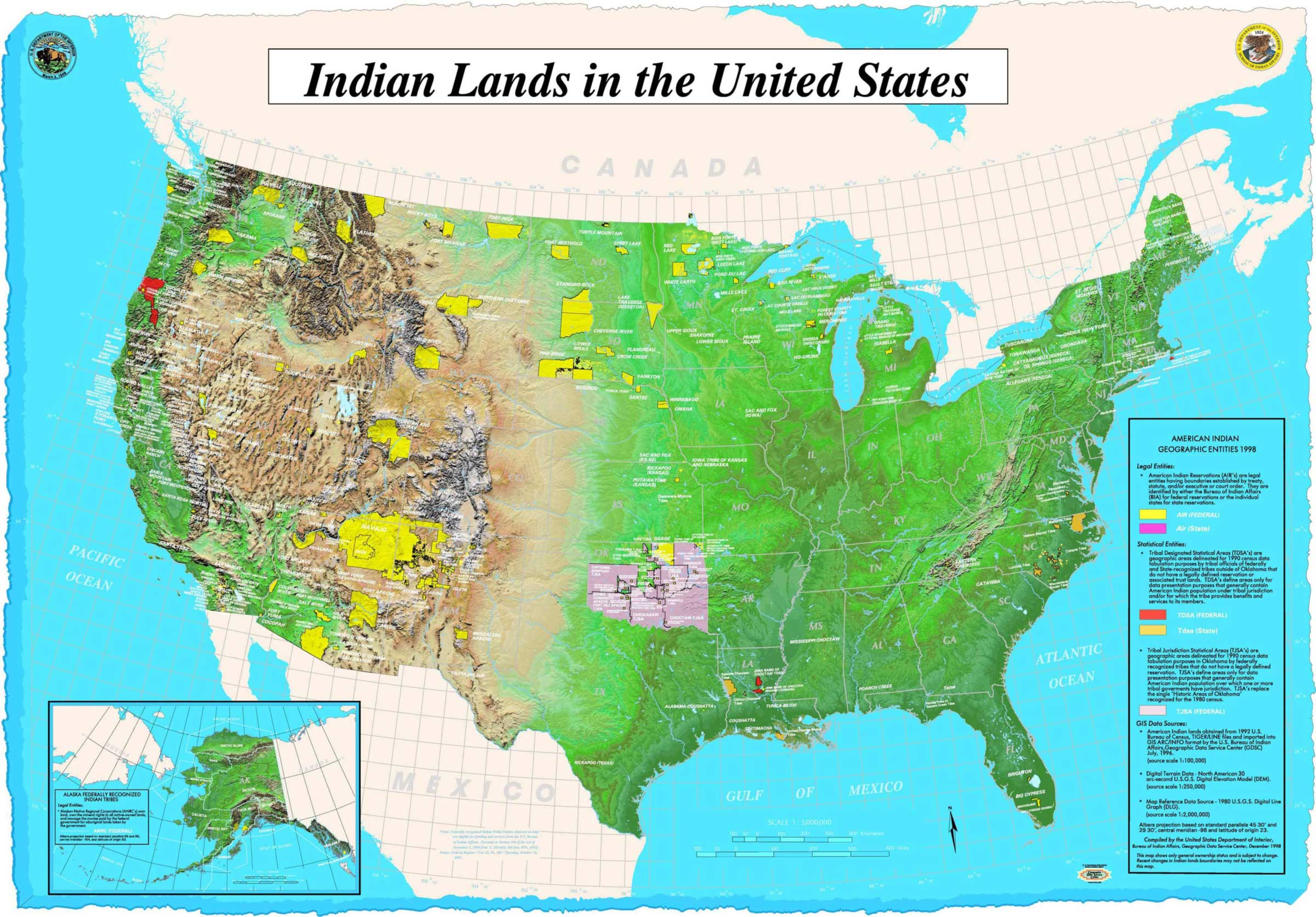 Map of Indian Lands In Us
