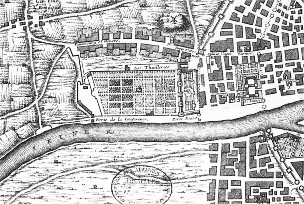 Map of Tuileries And Louvre, As In C  1589
