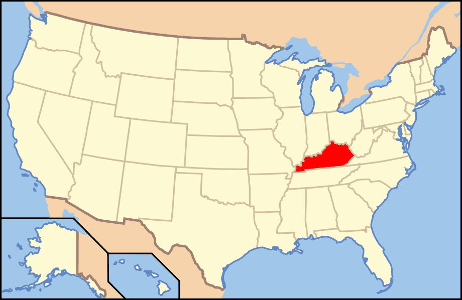 Map of Usa Ky