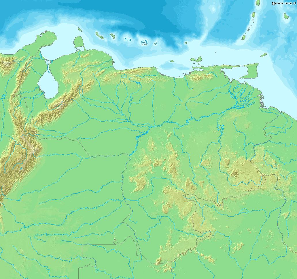 Map of Venezuela Demis