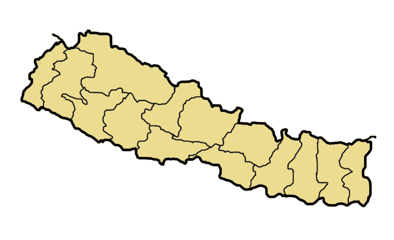 Nepal Divisions Blank