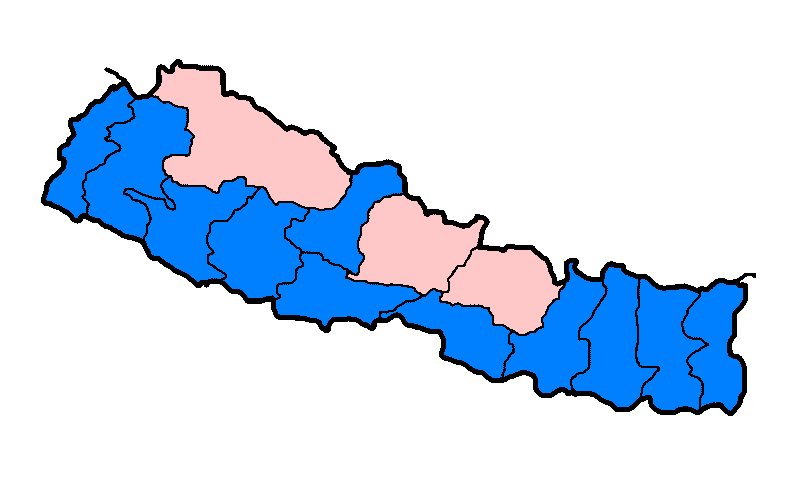 Nepal Zones Flood Hit Between July 3 And August 15 2007