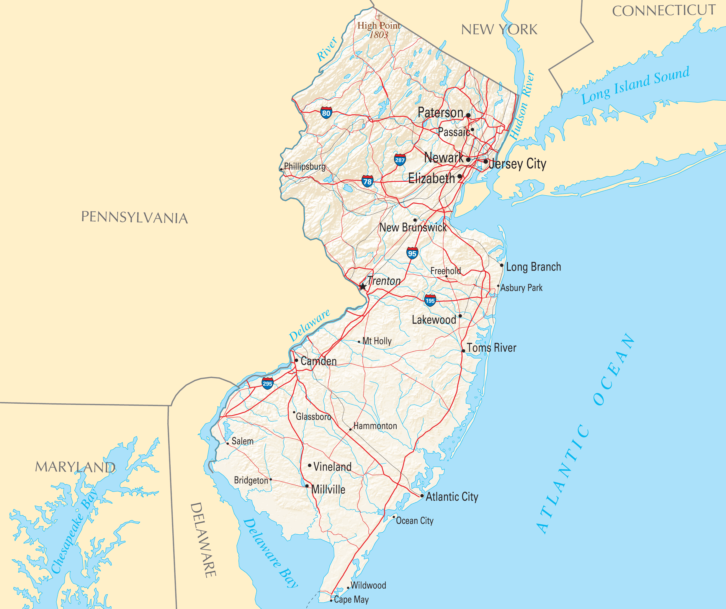 New Jersey Reference Map