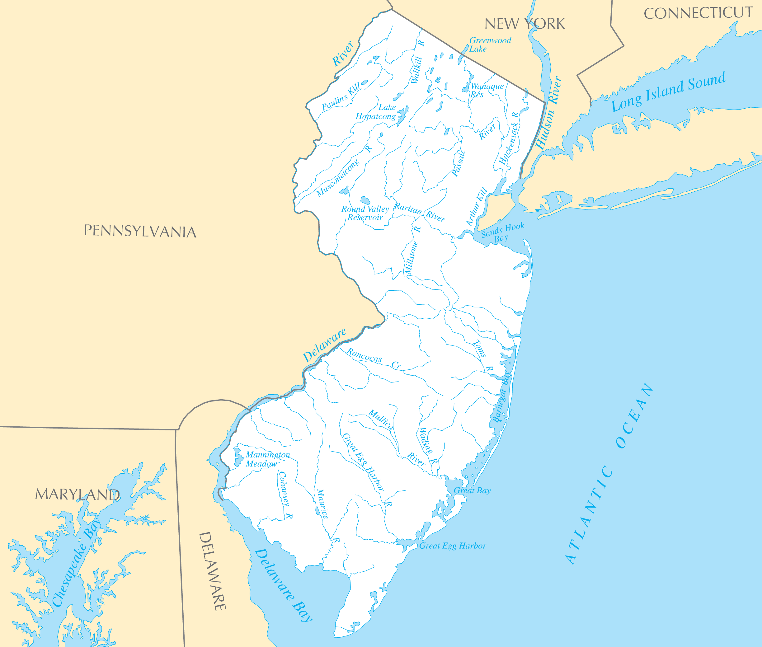 New Jersey Rivers And Lakes