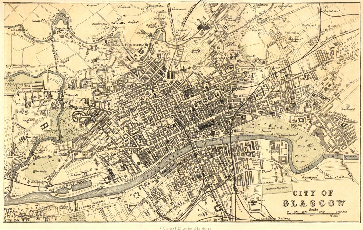 Old Map of Glasgow