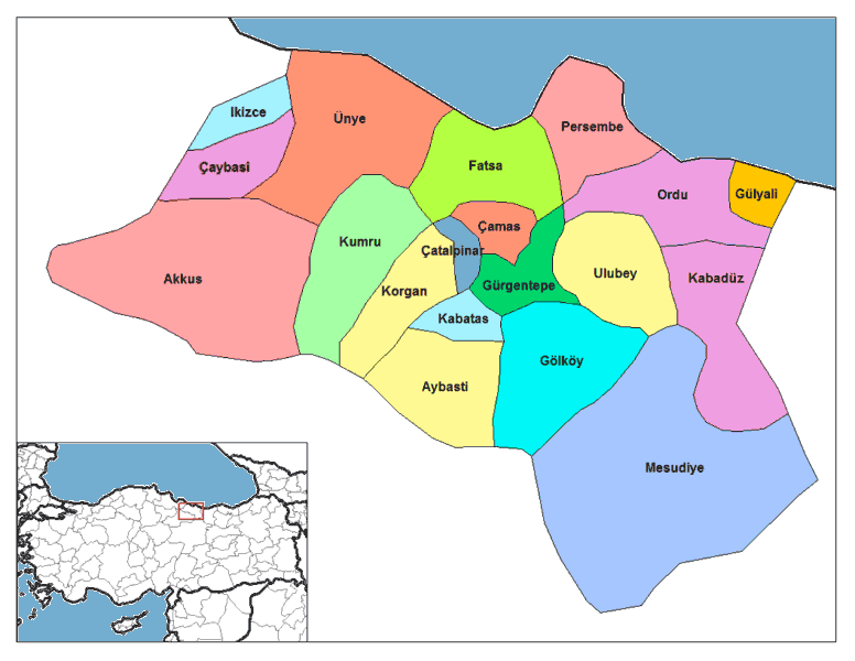 Ordu Districts