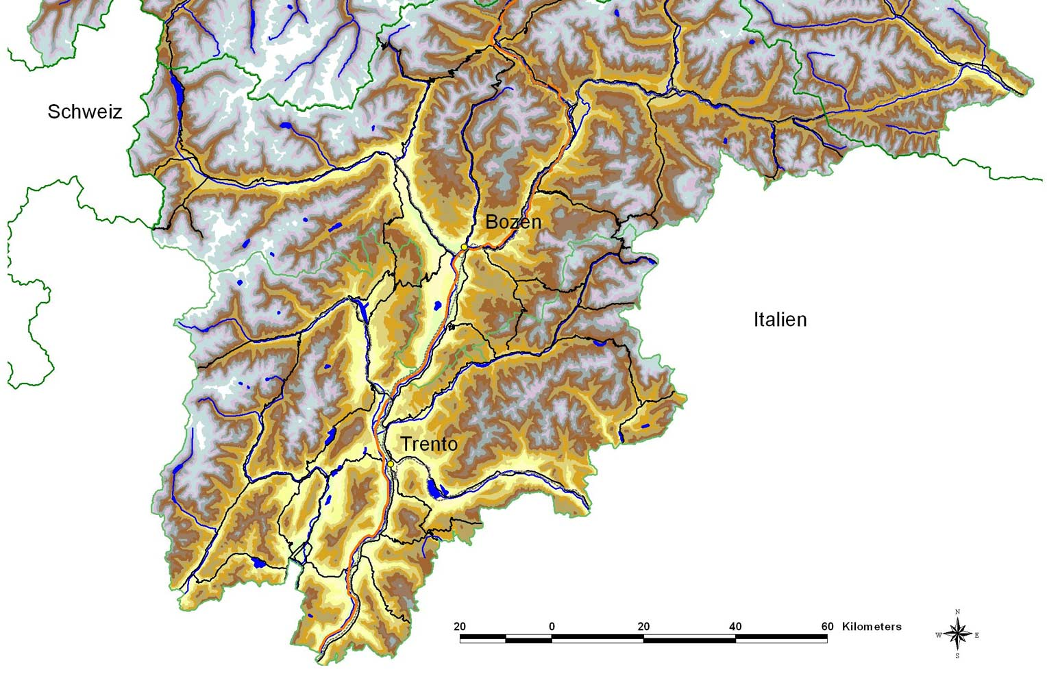 Physical Map Trento