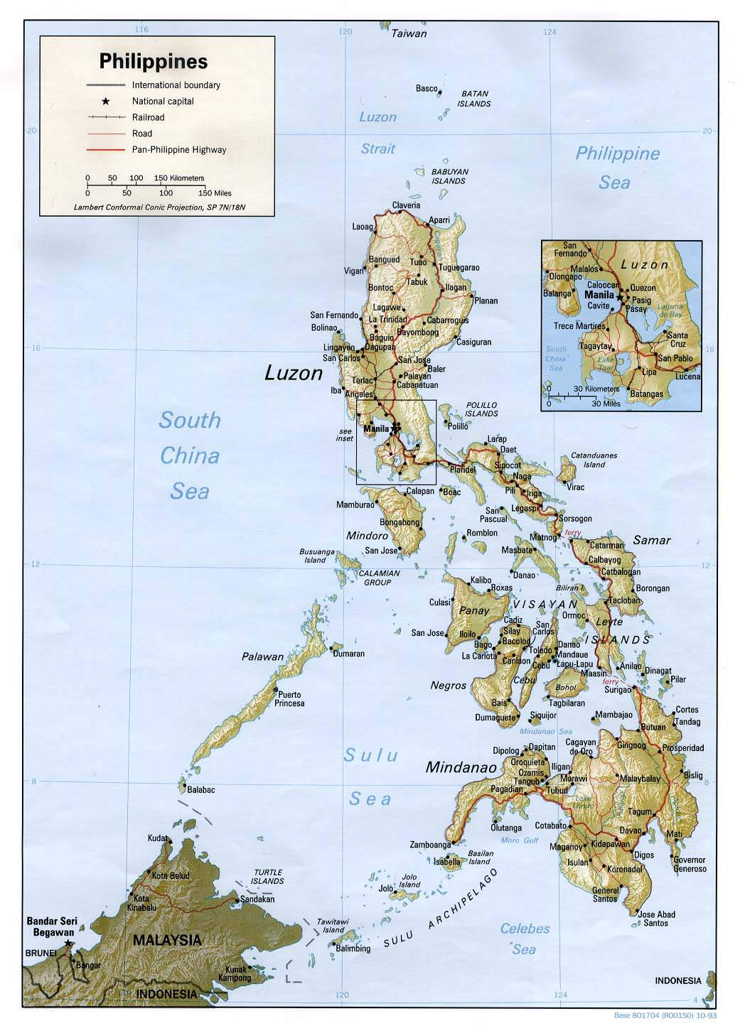 Physical Philippines Map