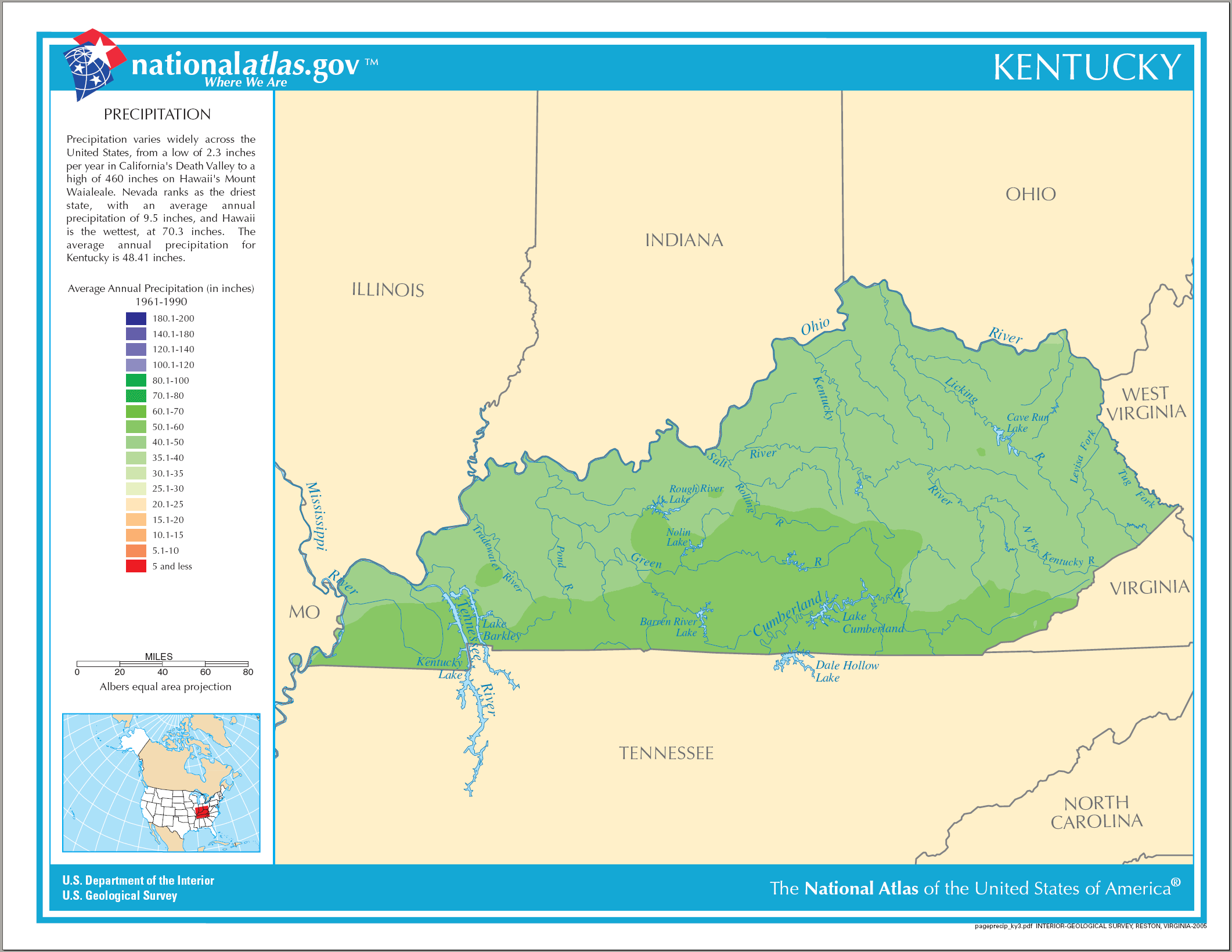 Precipitation of Kentucky