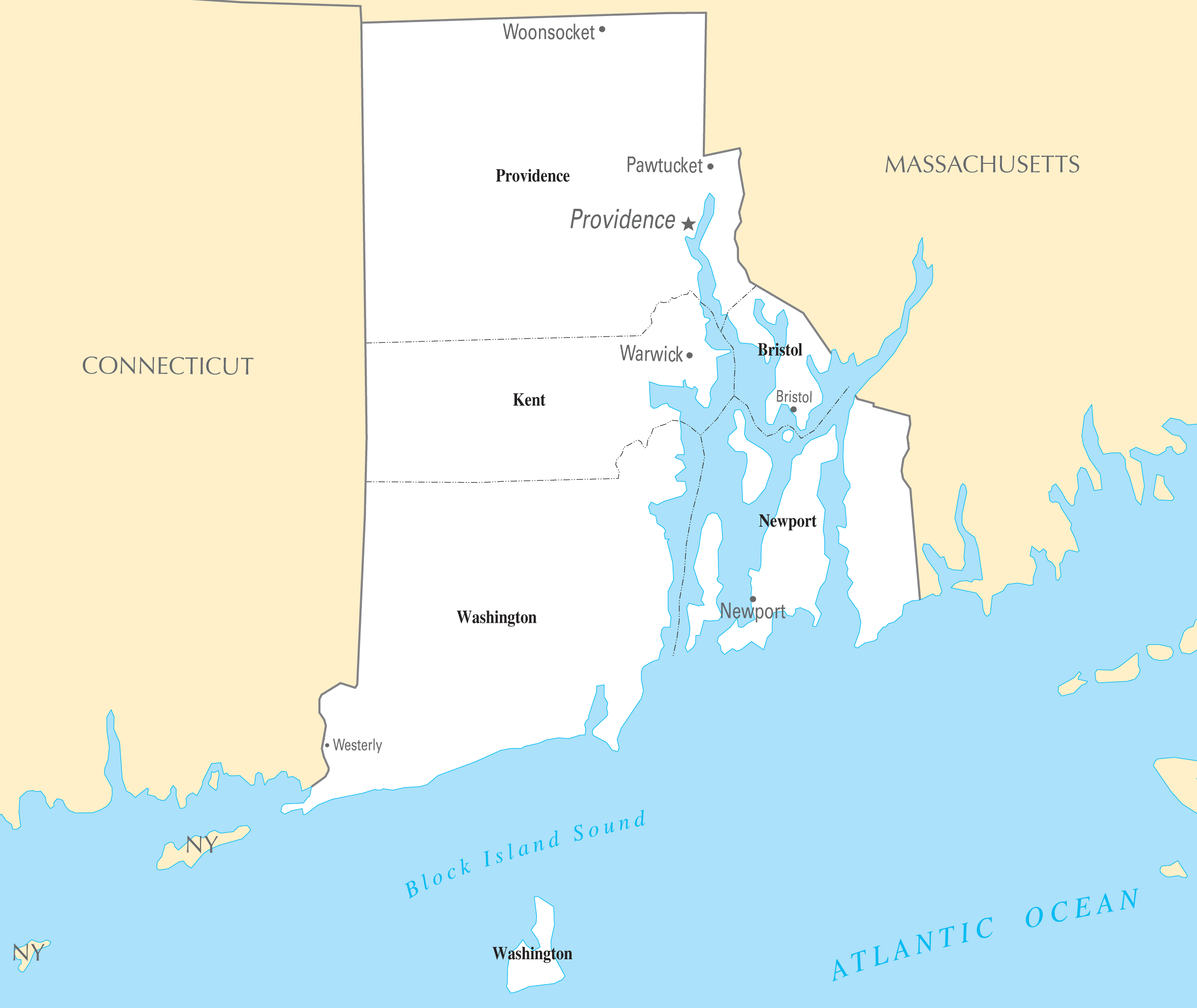 Rhode Island Cities And Towns