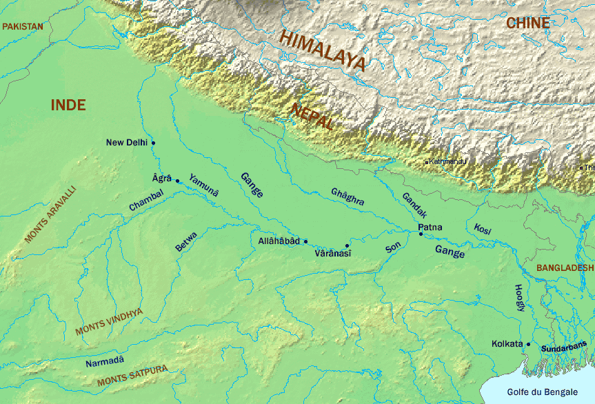 River Ganges And Tributaries