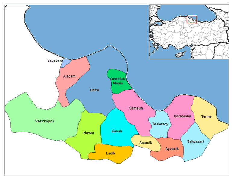 Samsun Districts