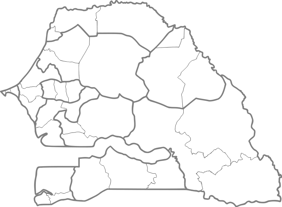 Senegal Departments 001
