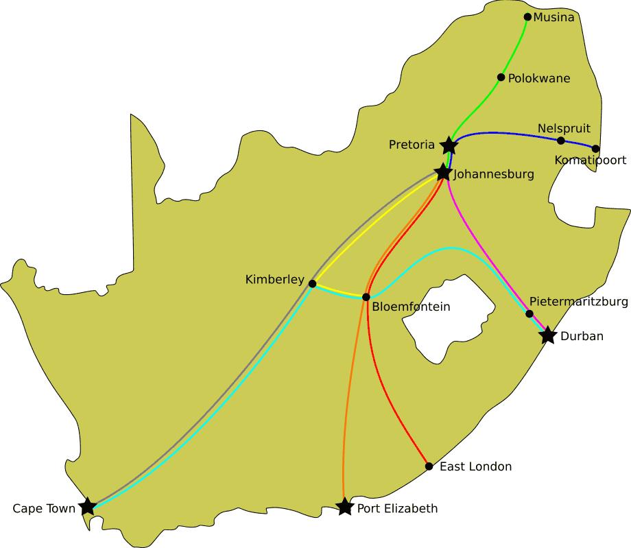 Shosholoza Meyl Routes