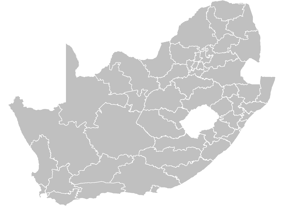 South Africa Districts Template