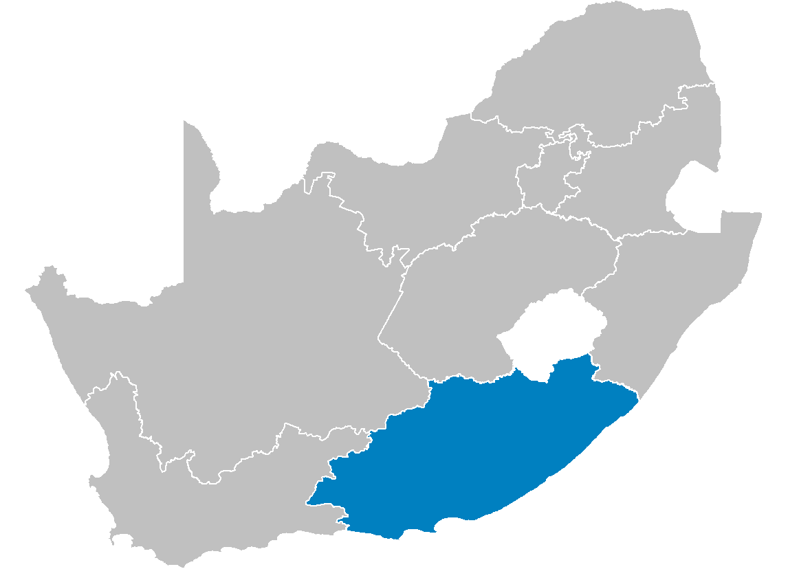 South Africa Provinces Showing Ec