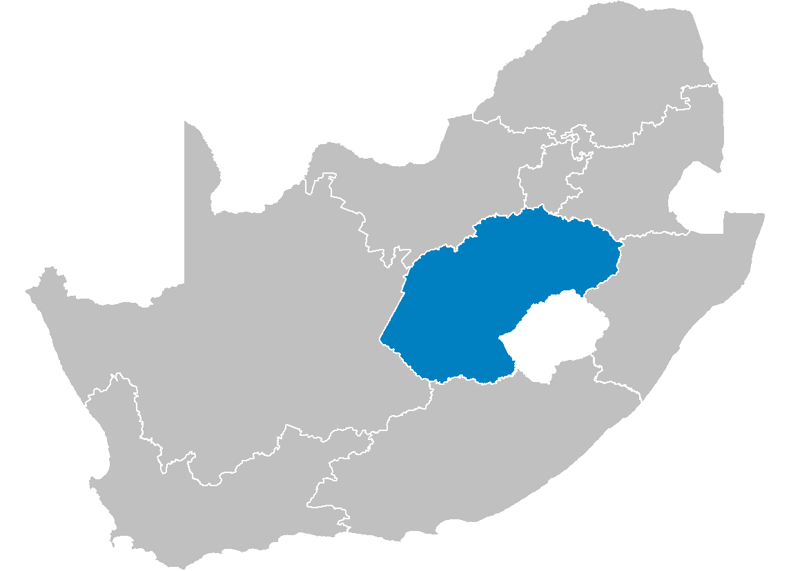 South Africa Provinces Showing Fs