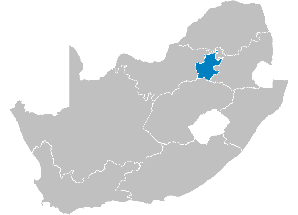 South Africa Provinces Showing Gt