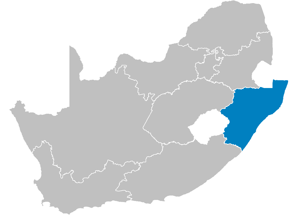 South Africa Provinces Showing Kz