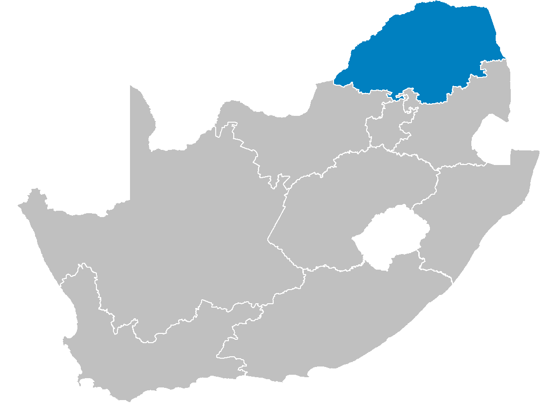 South Africa Provinces Showing Lp