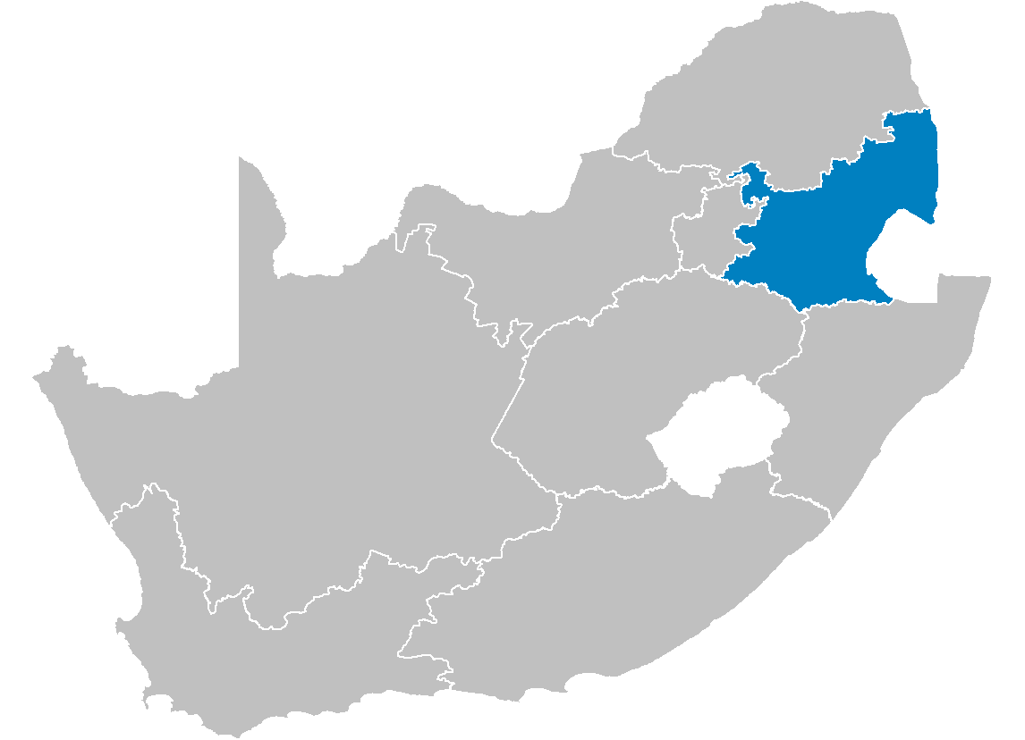 South Africa Provinces Showing Mp