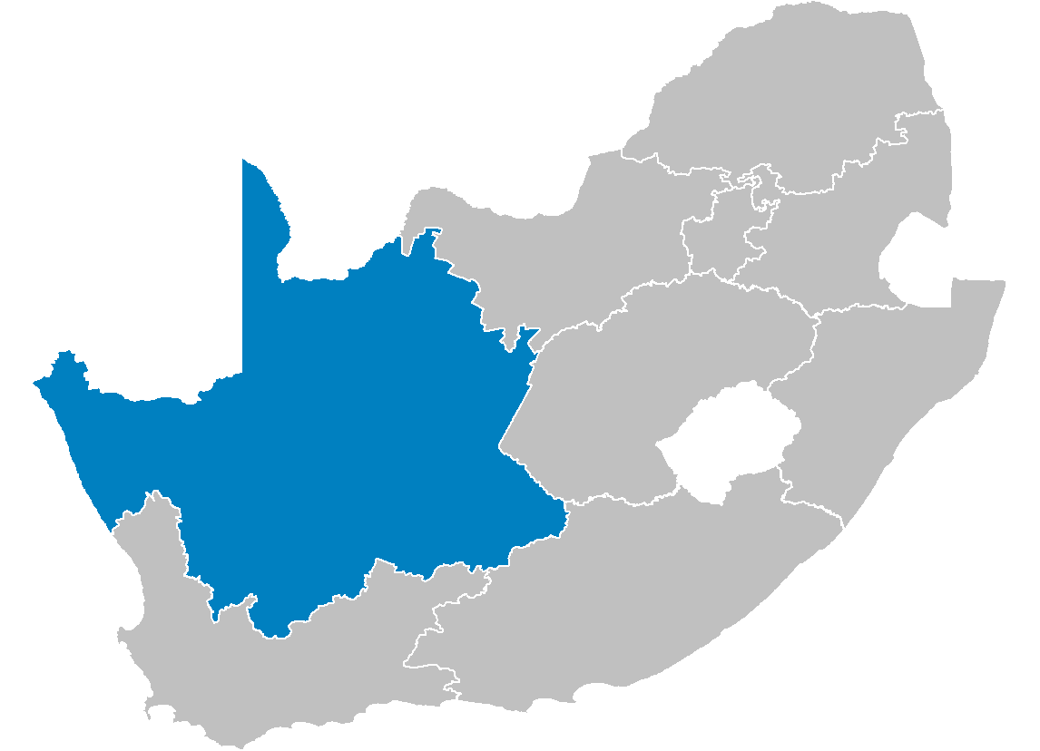 South Africa Provinces Showing Nc