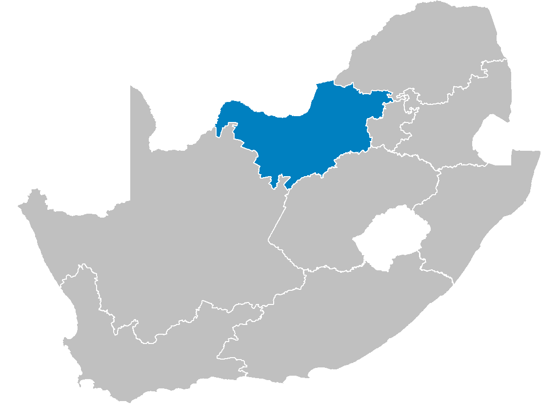 South Africa Provinces Showing Nw