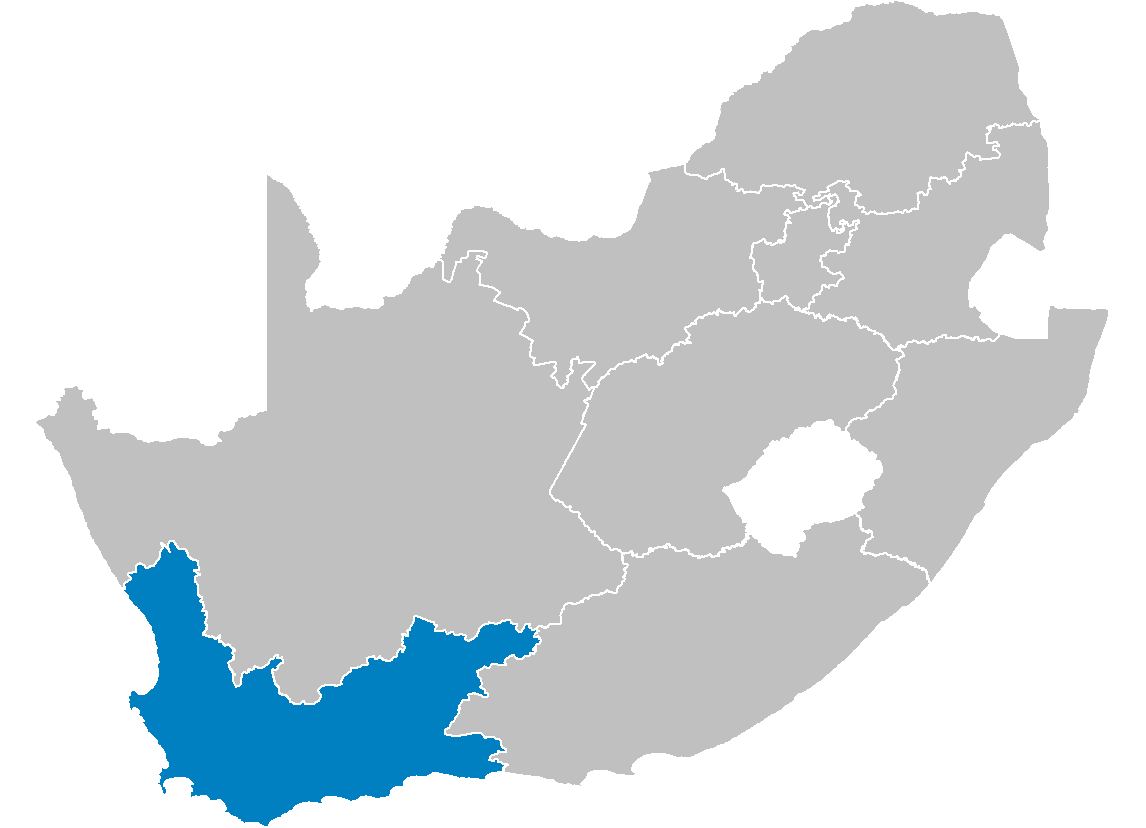 South Africa Provinces Showing Wc