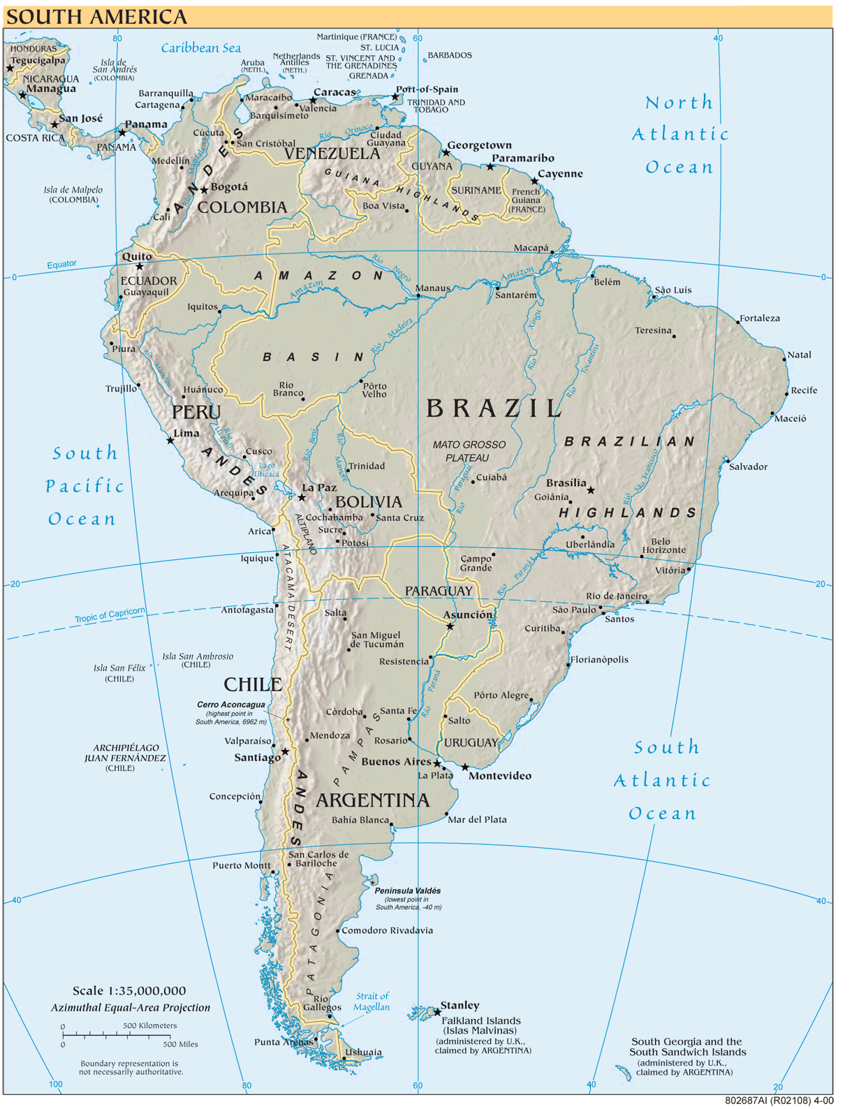 South America Reference Map