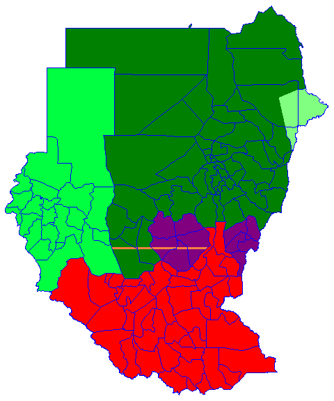 Sudan Political Regions July 2006
