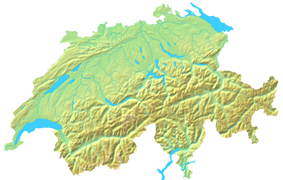 Switzerland Topographic