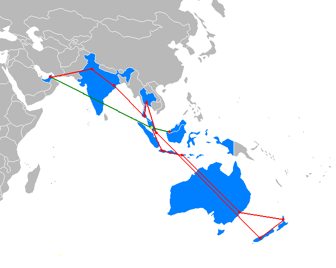The Amazing Race Asia 1 Map