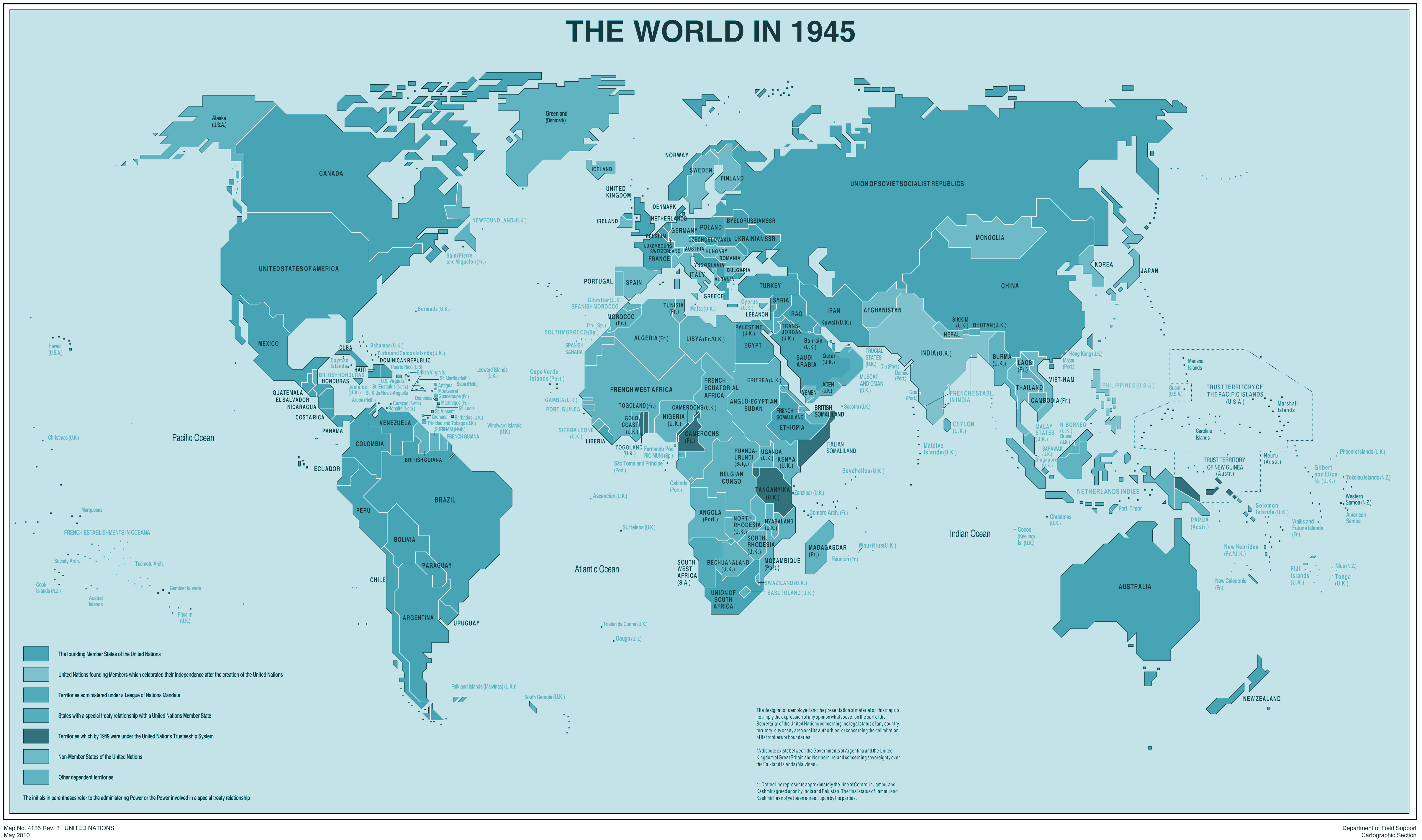 The World In 1945