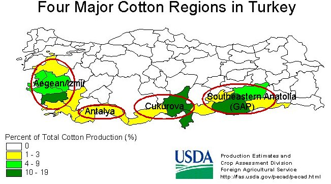 Turkey Cotton Regions