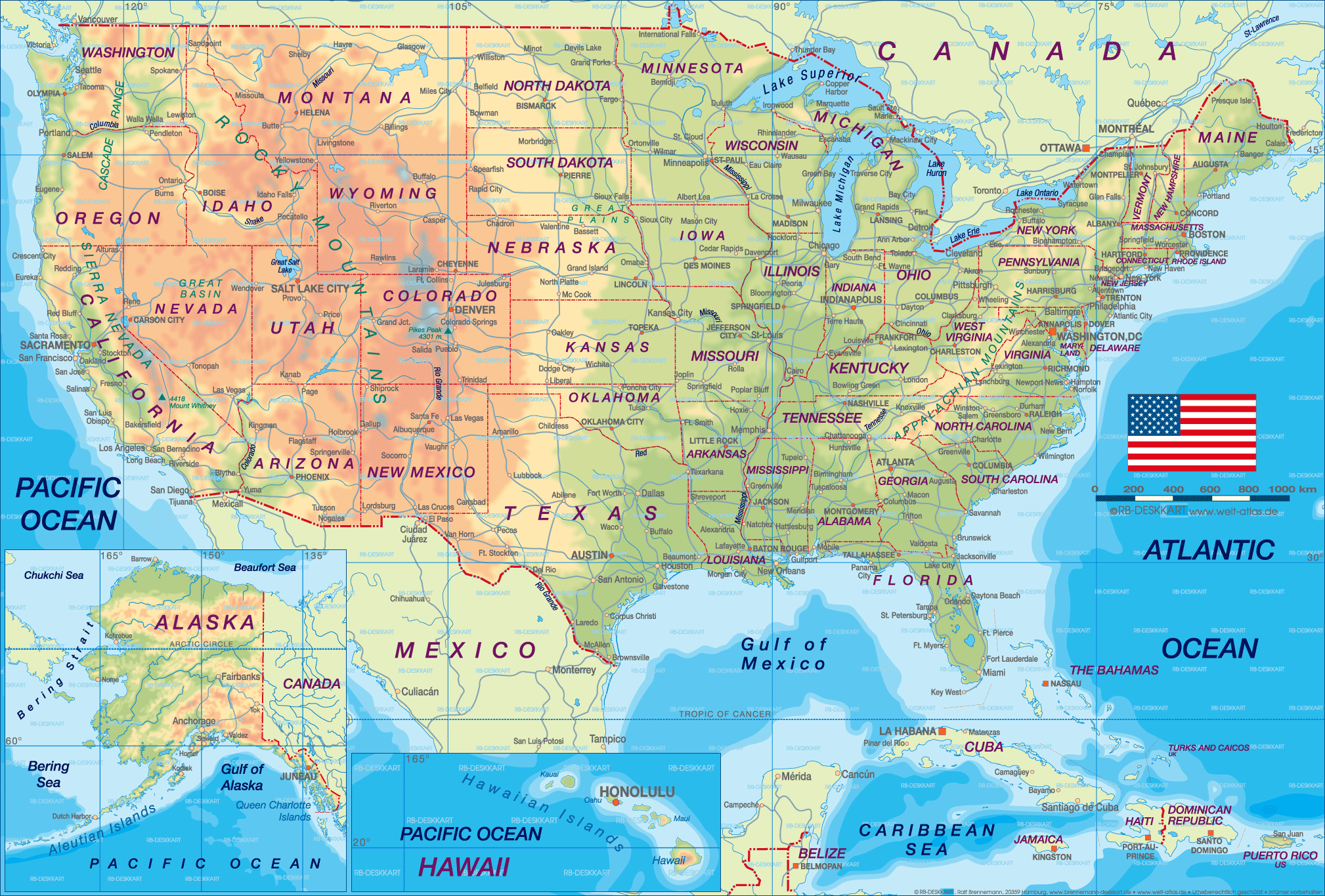 United States Cities Map