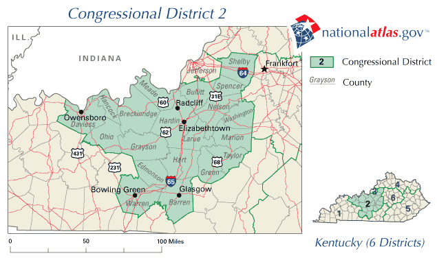 United States House of Representatives, Kentucky District 2 Map