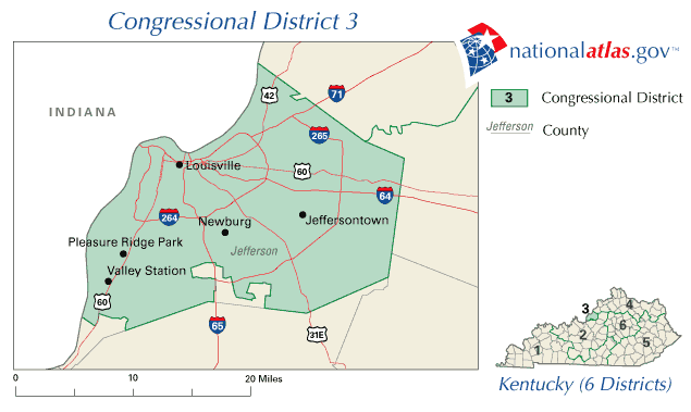 United States House of Representatives, Kentucky District 3 Map