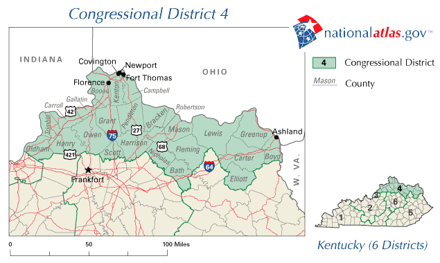United States House of Representatives, Kentucky District 4 Map