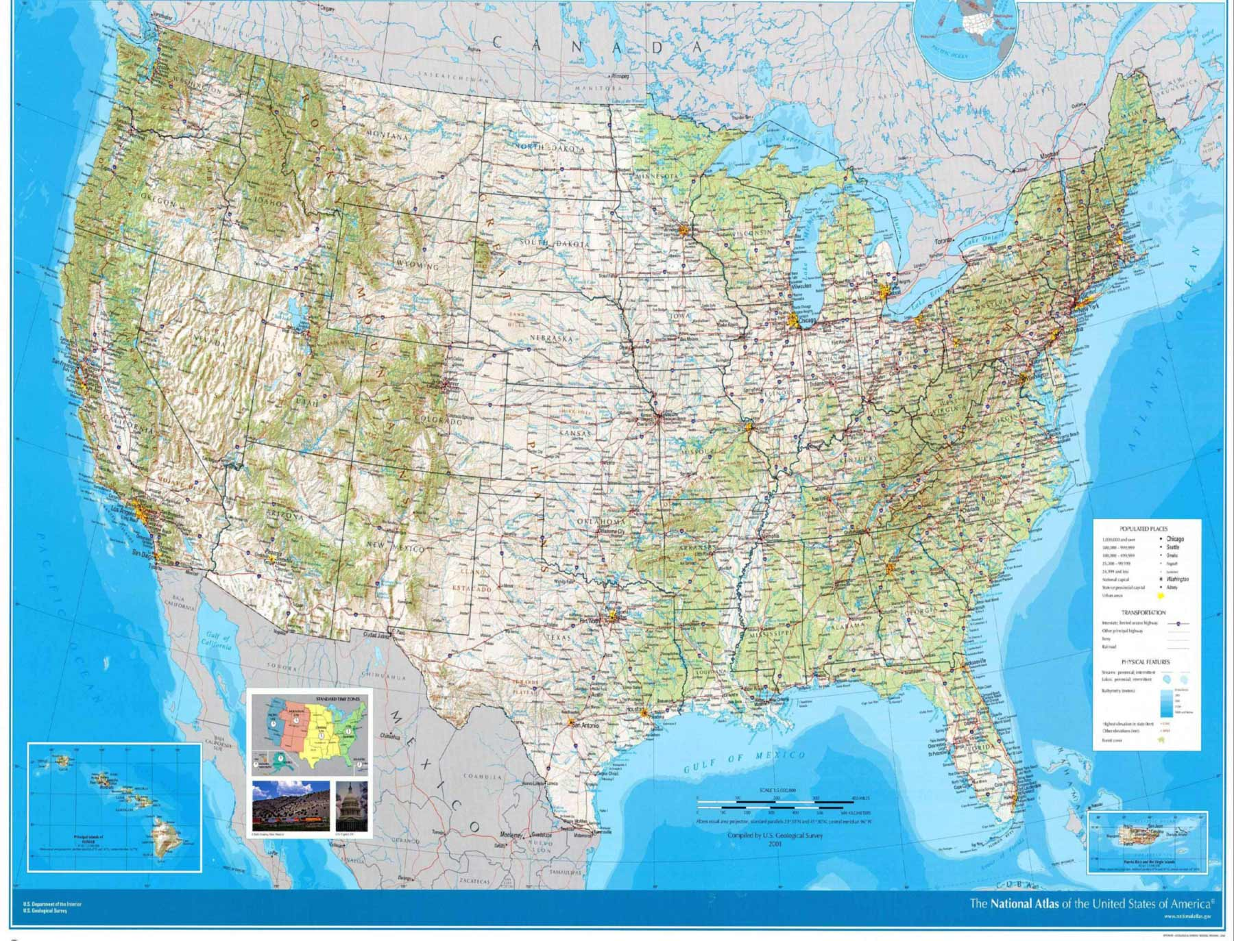 United States Wall Map Us