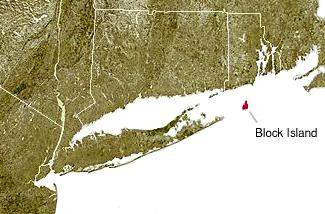 Us East Coast Map With Block Island Highligting